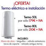Oferta Termo eléctrico + instalación Hidro2 Grup