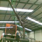 Hidro2 Grup - Trabajos de fontanería de forma aérea en nave industrial en Oliva