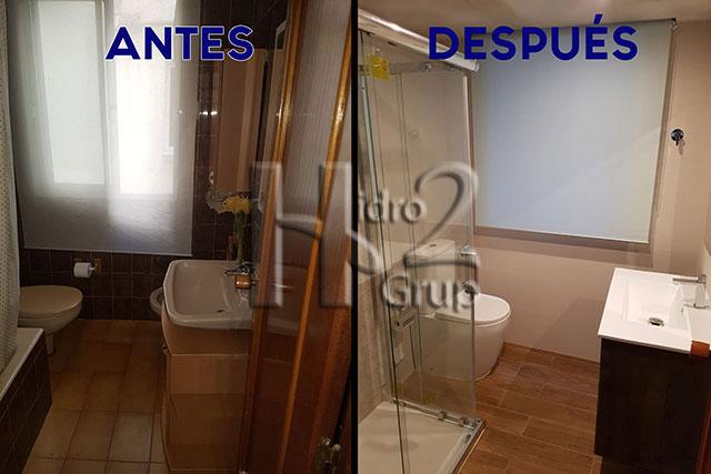 Reforma completa baño en Gandia - Antes y después